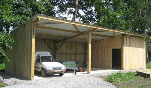 Qu 39 est qu 39 un hangar guide de construction des garages - Construction hangar bois ...